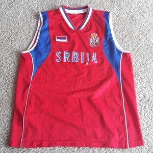 Serbia basketball jersey